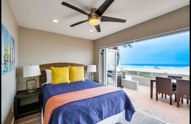 Rental bedroom at Surf Style Vacation Homes.