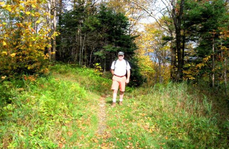Hiking at Birch Ridge Inn.