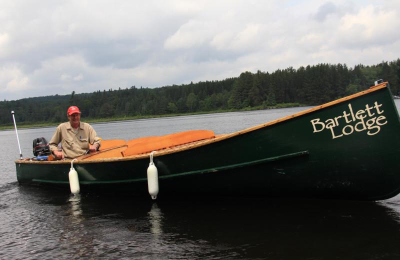 Canoe at Bartlett Lodge.