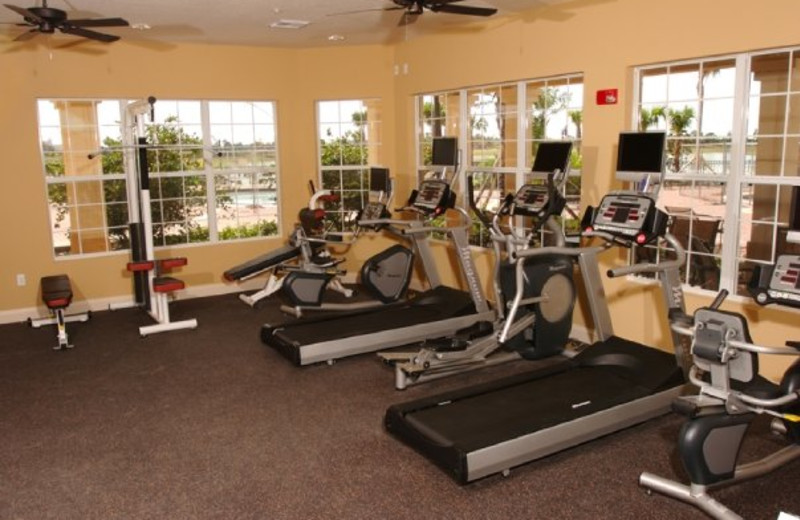 Gym view at Vista Cay Resort.