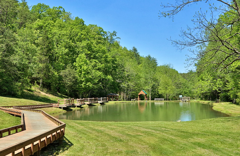 Fishing pond at Little Valley Mountain Resort