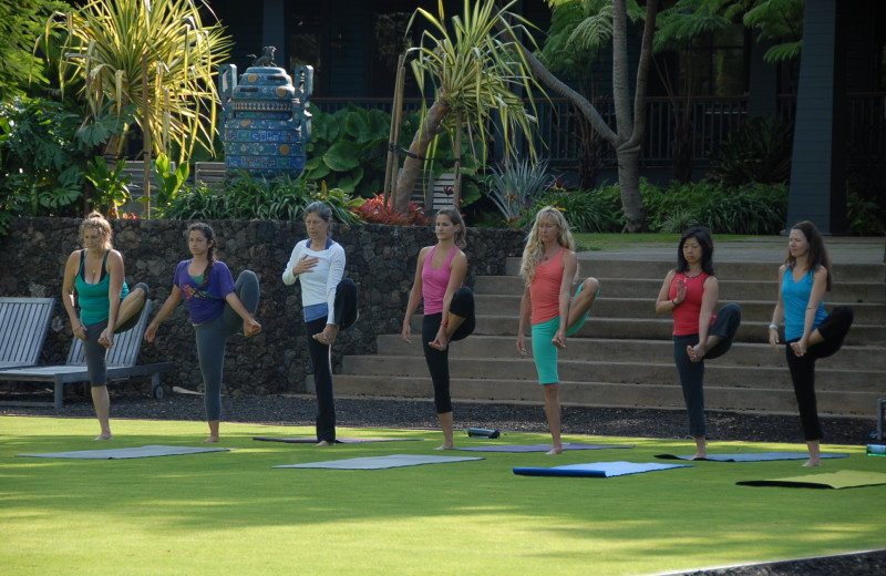 Yoga classes at Lumeria Maui.