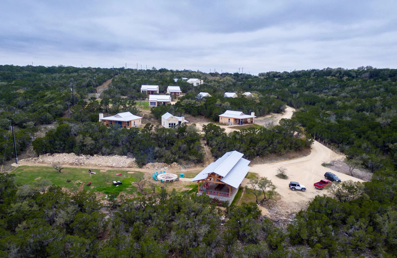 Aerial view of Hill Country Casitas.