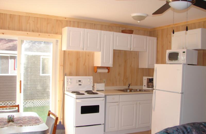 Cabin kitchen at Sunnylea.