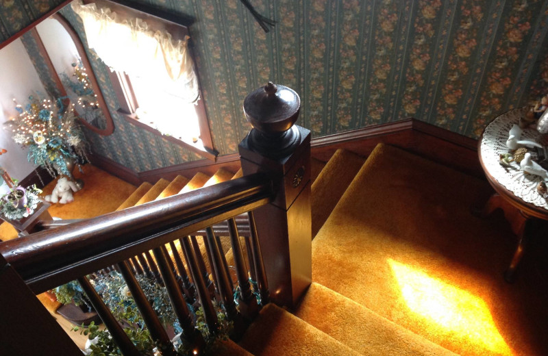 Stairs at Country Haven B&B.