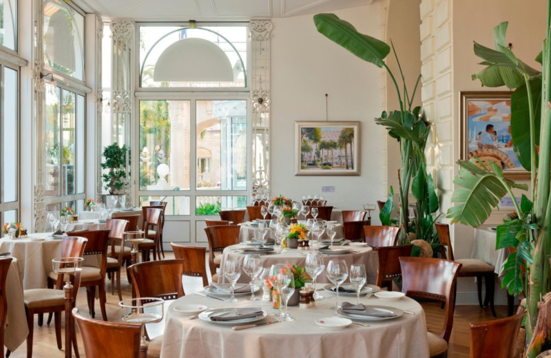 Dining at Carlton Inter-Continental Cannes.