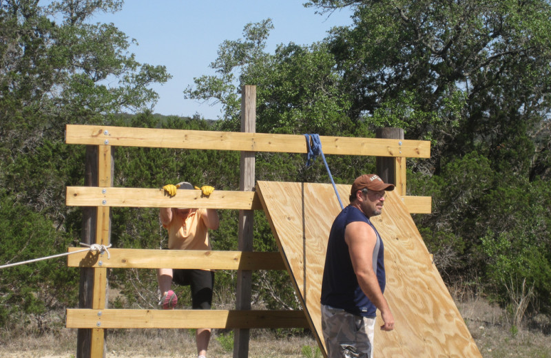 Boot camp obstacle course at Rancho Cortez.