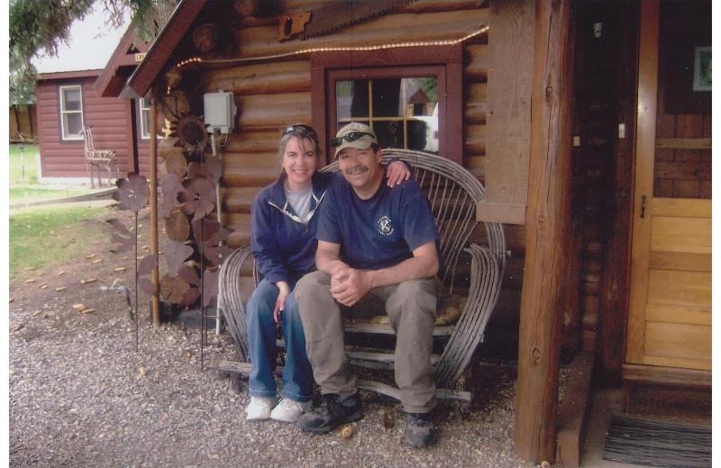 Couple at O-Bar-O Cabins.