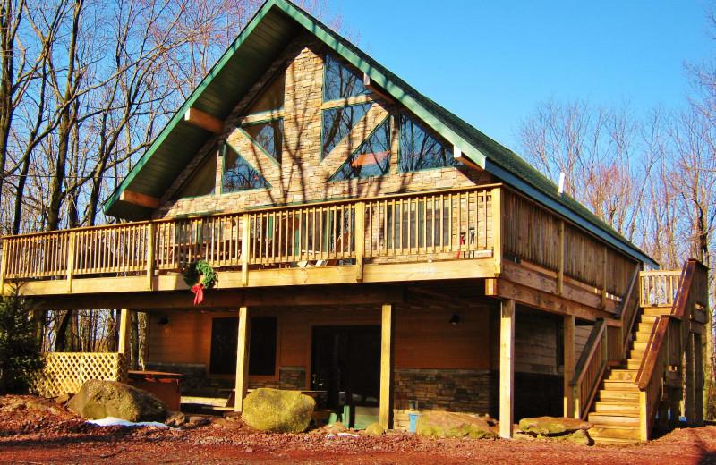 Rental exterior at Pocono Mountain Rentals.