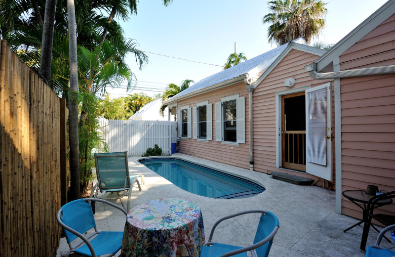 Vacation rental pool at Rent Key West Vacations.