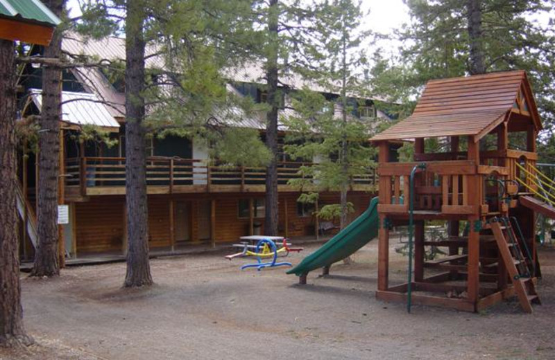 Kids playground at Pinewoods Resort.