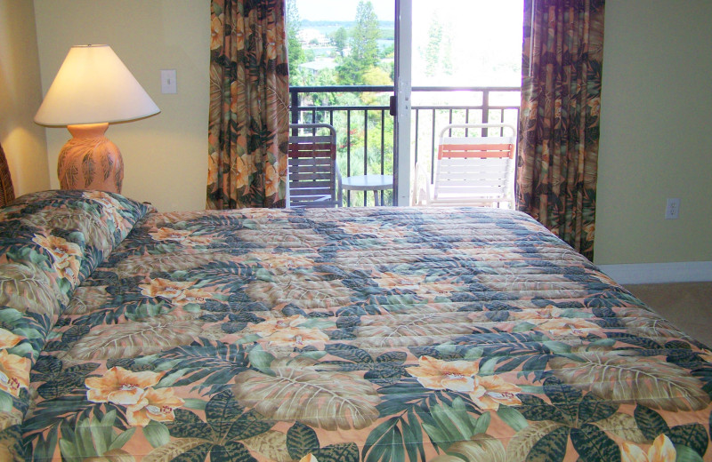 Rental bedroom at Madeira Bay Resort.