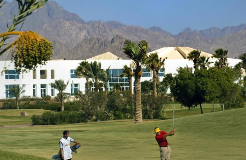 Golf course at Jolie Ville Mövenpick Golf Hotel & Resort Sharm El-Sheikh.