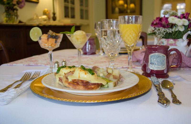 Breakfast at The Brenham House Bed & Breakfast.