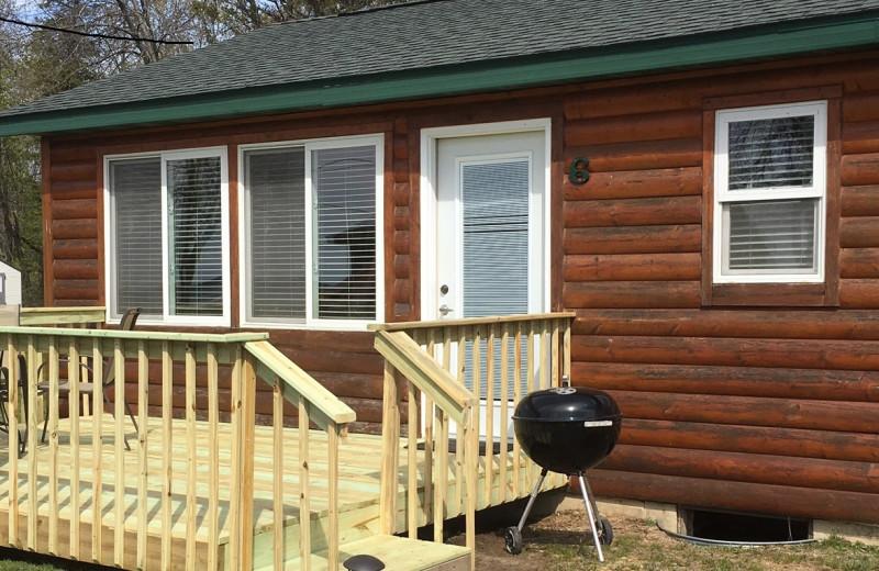 Cabin exterior at Sullivans Resort & Campground