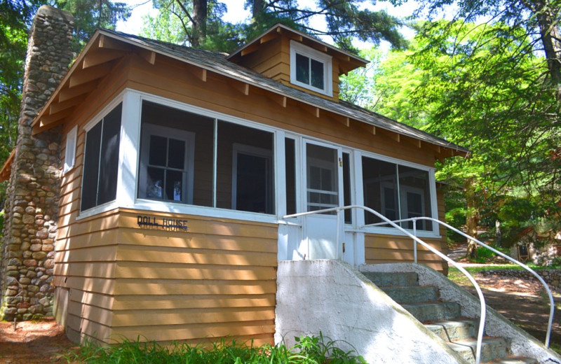 Cabin exterior at Lakeland Rental Management.