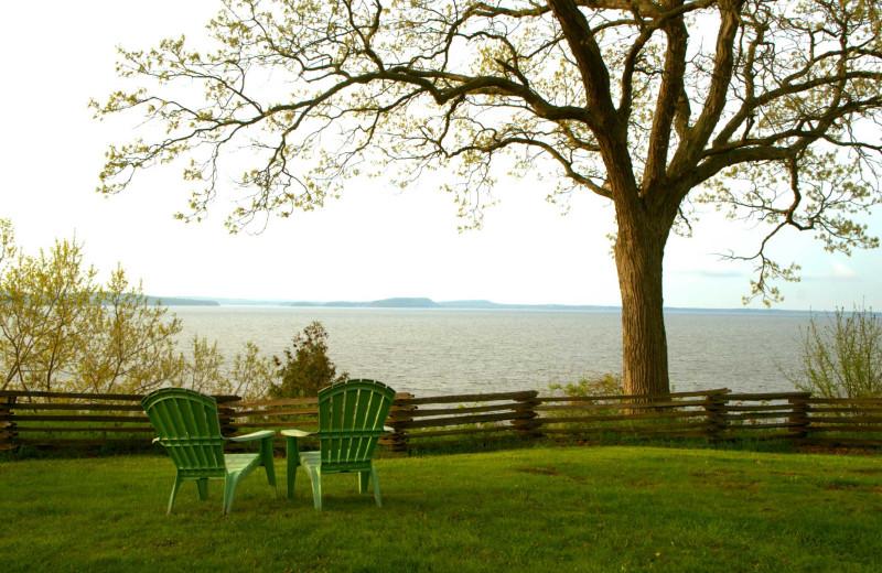 Lake view at Apple Island Resort.
