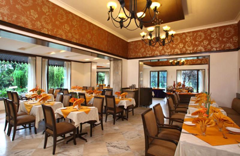 Dining room at Shervani Hill Top, Nainital.