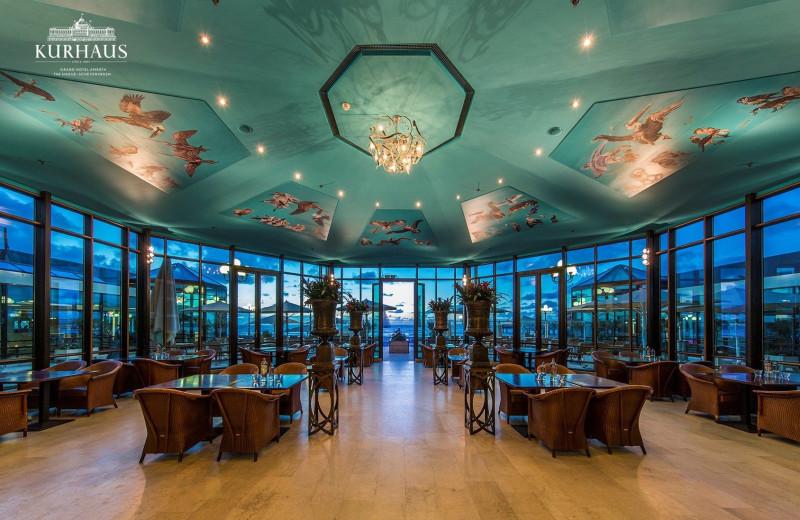 Dining at Steigenberger Kurhaus Hotel.
