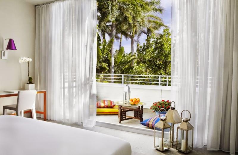 Guest room at Shore Club Miami.