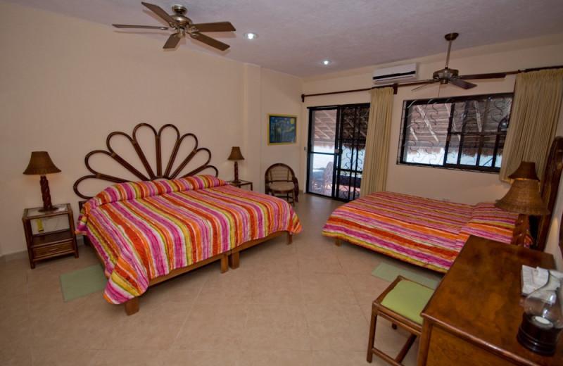 Guest room at Casa Caribena.