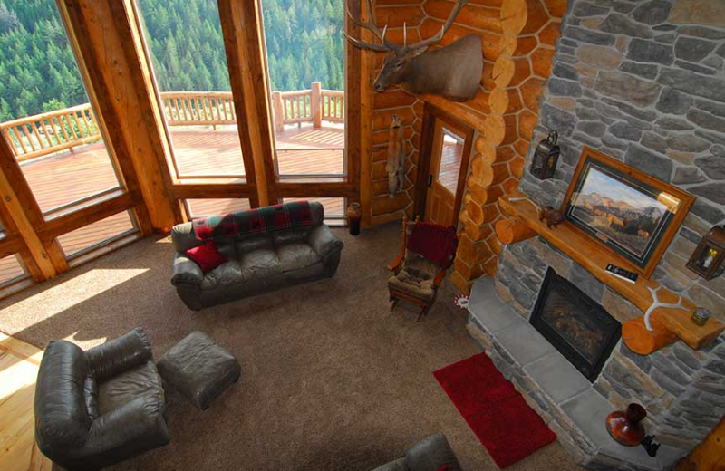 Lodge living room at Rocky Mountain Elk Ranch.