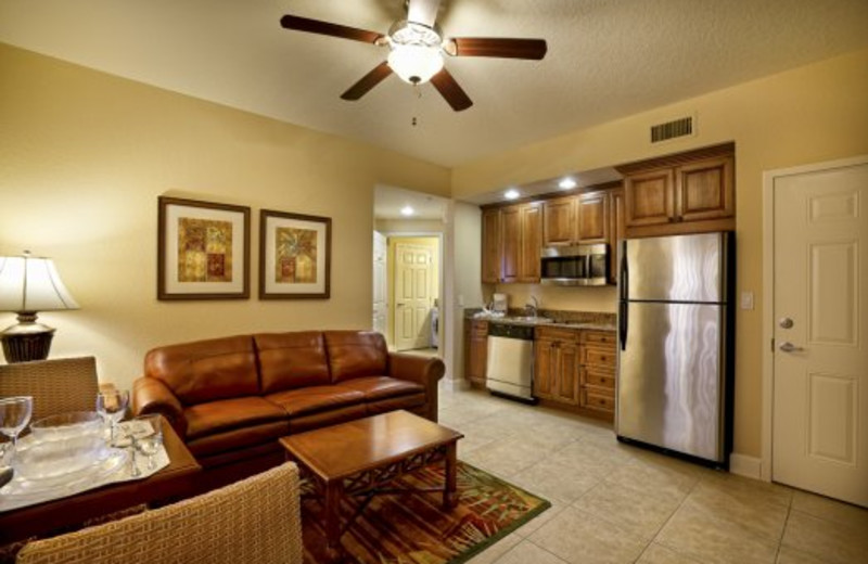 Kitchen and living room view at Westgate Vacation.