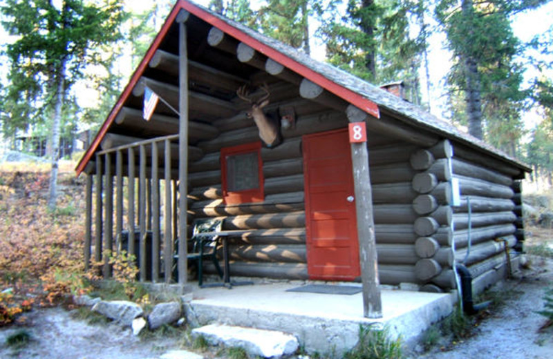Cabin exterior at North Shore Lodge & Resort.