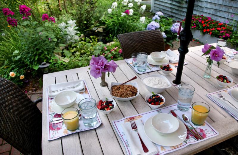 Patio dining at Morning Glory Inn.