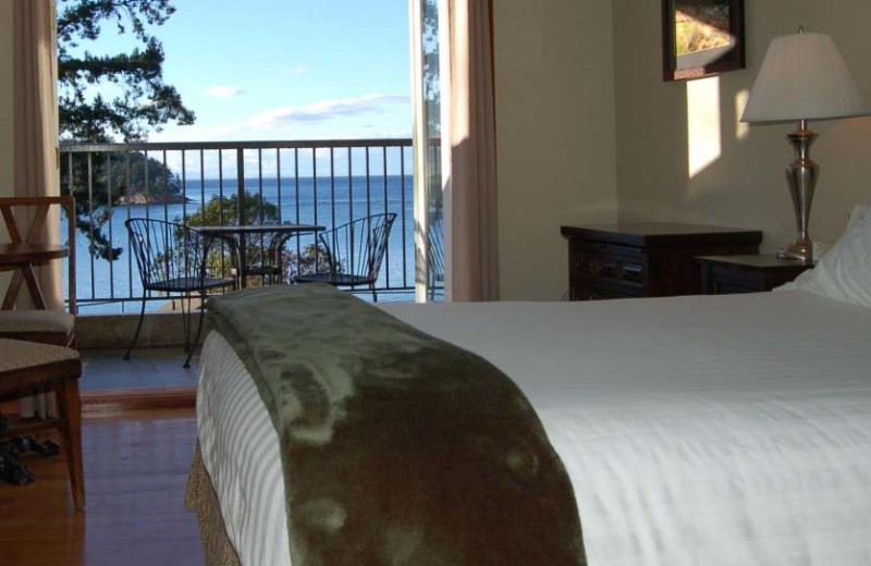 Guest room at Mayne Island Resort and Spa.