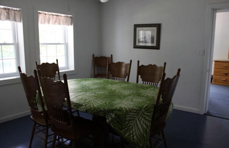 Dining table at Kentucky Beach Resort.