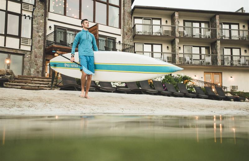 Surfing at Golden Arrow Lakeside Resort.