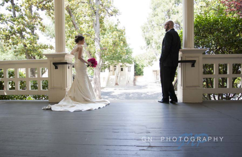 Wedding couple at The Sterling Hotel.