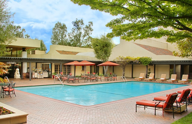 Outdoor pool at Sheraton Palo Alto Hotel.