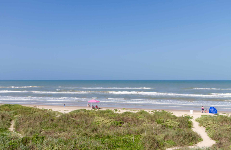 Beach view at Padre Island Rentals.