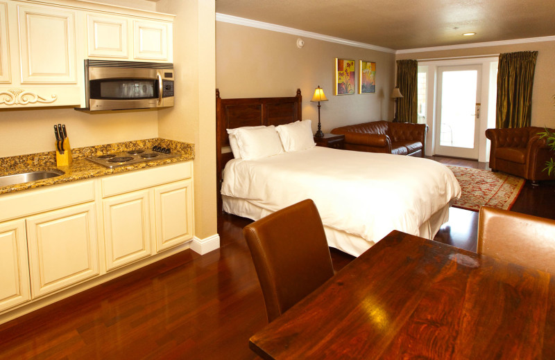 Guest room at Oasis Suites.