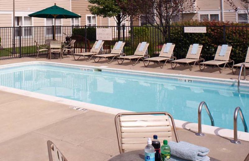 Outdoor pool at Residence Inn by Marriott Detroit Warren.