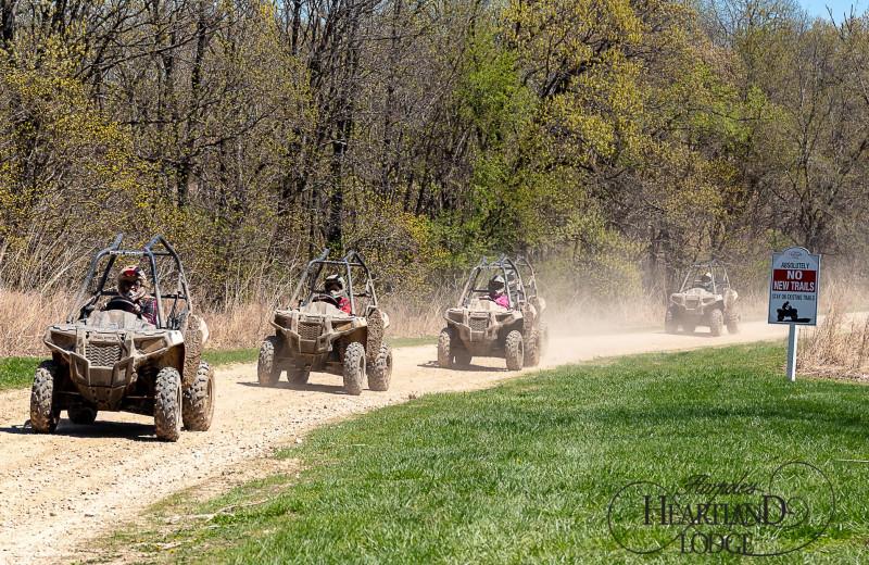 ATV trail at Harpole's Heartland Lodge.