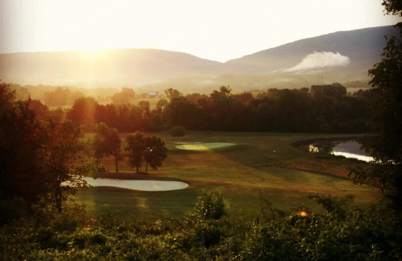 Sunrise over course at Shenvalee Golf Resort.
