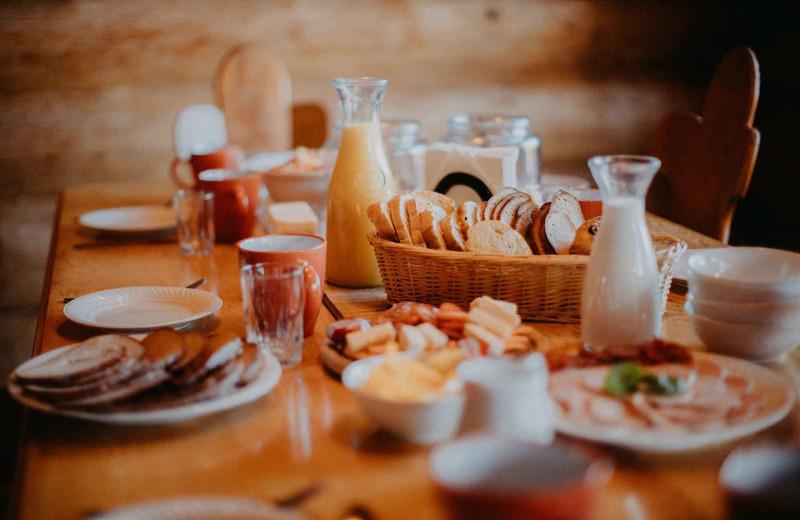 Breakfast at Big Creek Lodge.