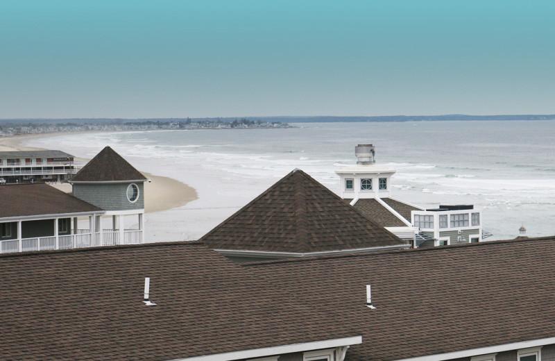 Beach view at The Colonial Inn.
