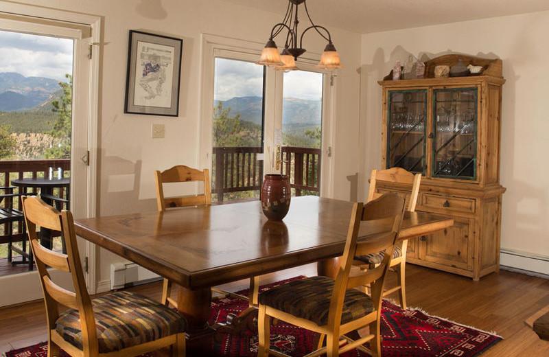 Rental dining room at Durango Colorado Vacations, LLC.