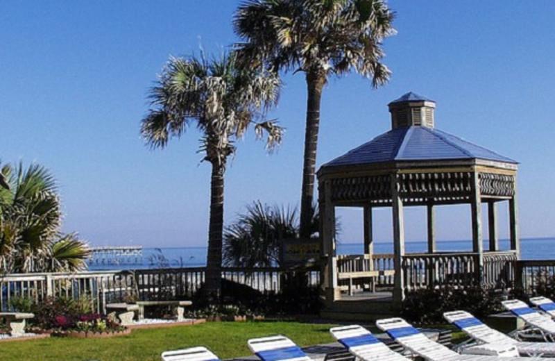 Lounge chairs at Ocean Isle Inn.