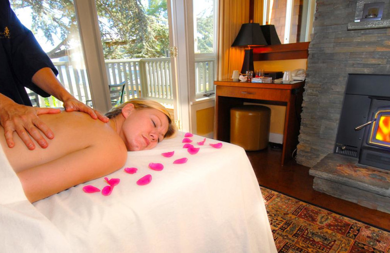In room massage at Galiano Oceanfront Inn and Spa.