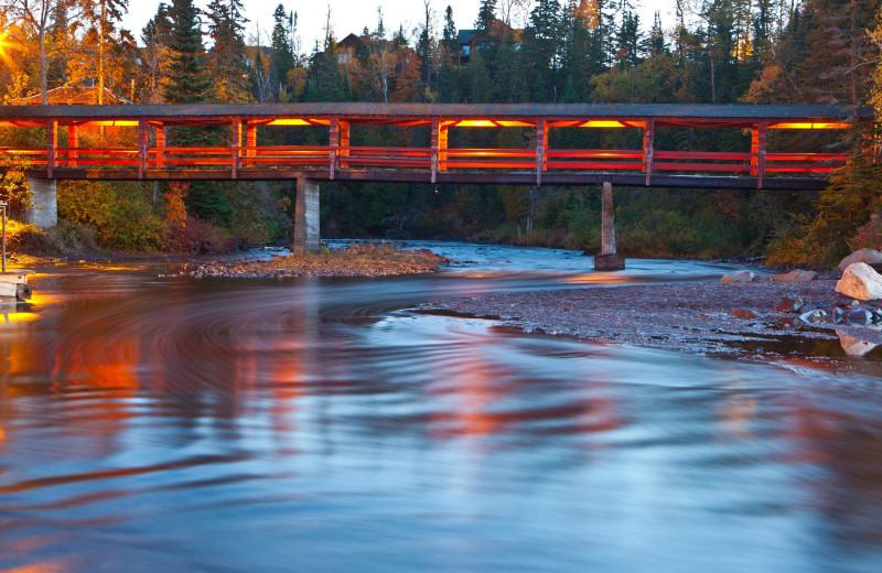 Covered bridge at Lutsen Resort on Lake Superior.