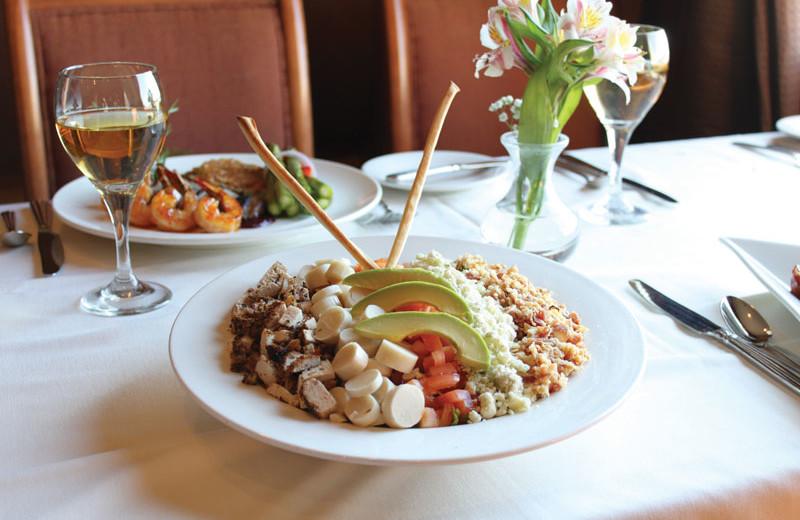 Dining at Hilton Suites Ocean City Oceanfront.