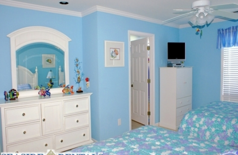 Blue Bedroom at Seaside Rentals