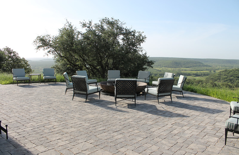 Patio at Greystone Castle Sporting Club.