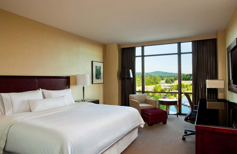 Guest room at The Westin Huntsville.