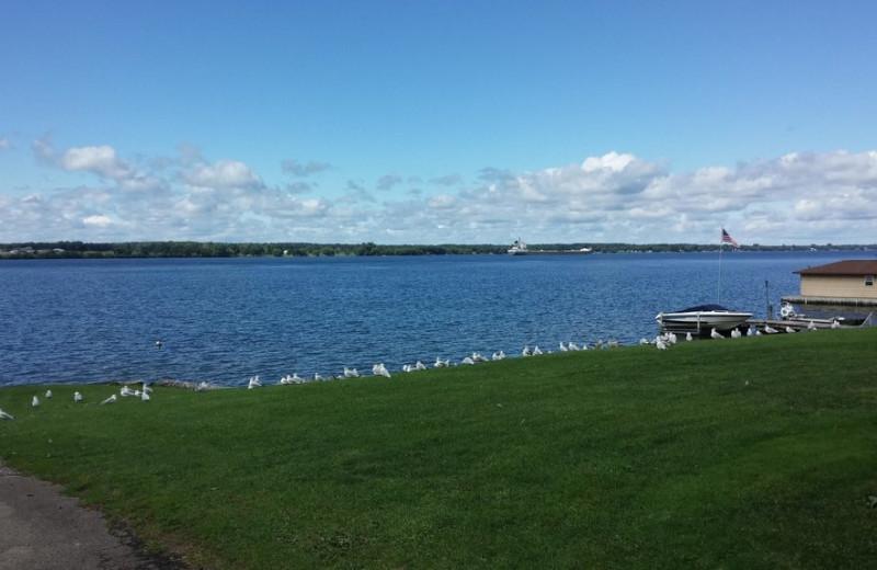 Lake view at Windjammer Lodge.